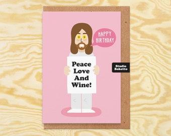 John Lennon Birthday Card, Funny Wine Birthday Card, Music Birthday Card, Birthday Card For Friend, Sister, Mum, Auntie