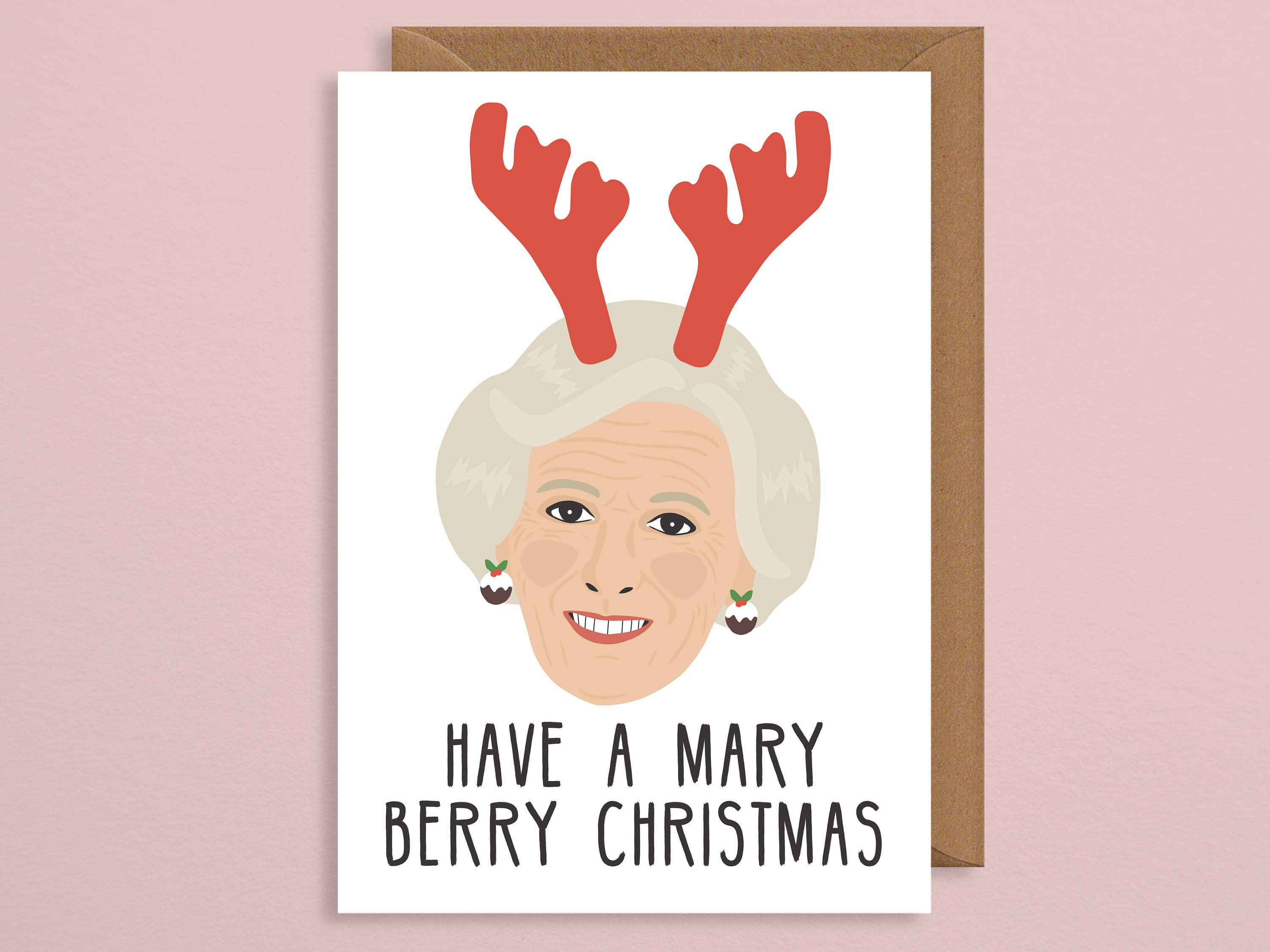 Christmas card for wife.Have a Mary Berry Christmas.foodie | Etsy