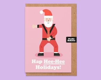 Joke Christmas Card, Funny Christmas Card, HapHeeHee Christmas, Funny Christmas Card Husband, Humour, Boyfriend, Michael Jackson, For Him