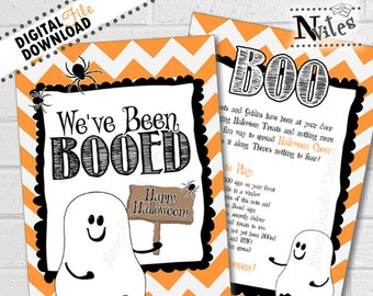 graphic relating to We Ve Been Booed Printable named Weve been booed Etsy