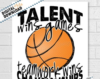 Basketball Team Quotes | Basketball Quote Etsy