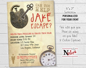 graphic regarding Printable Escape Room Puzzles known as Escape place puzzle Etsy
