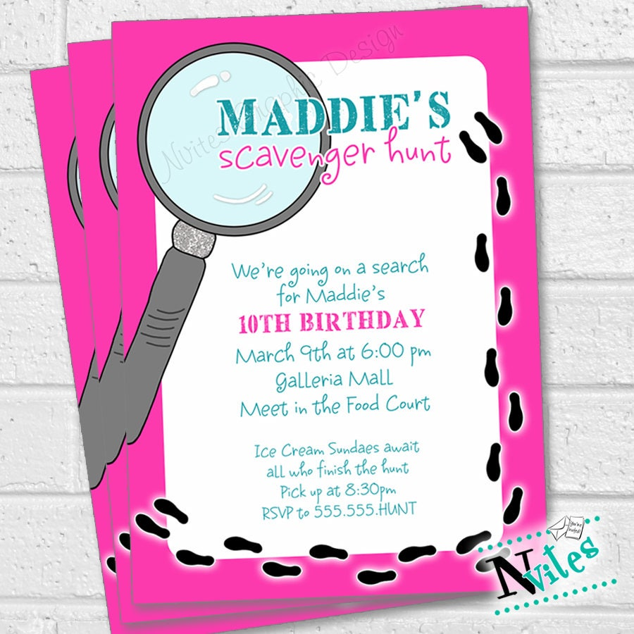 Modern Clue Party Invitations Images - Invitation Card ...