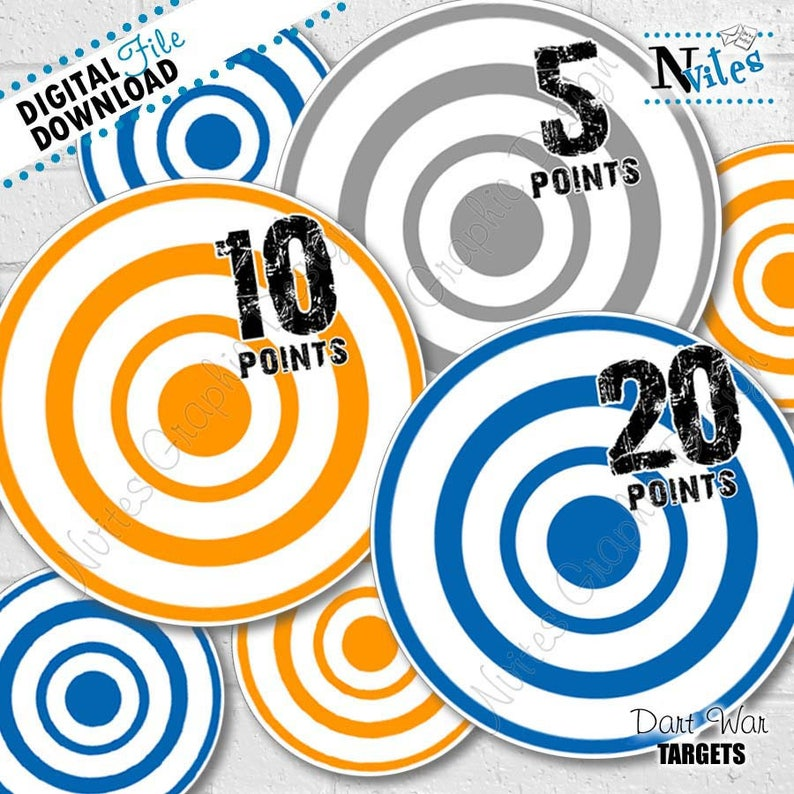 photo relating to Nerf Gun Targets Printable referred to as Dart Occasion Objectives, Dart Gun Combat Ambitions, Dart War Decor, War Birthday Occasion Decor, Dart Get together Decorations, Taking pictures Aims PRINTABLE