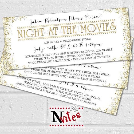 Oscar Party Dinner Party Invitation Movie Party Dinner Etsy