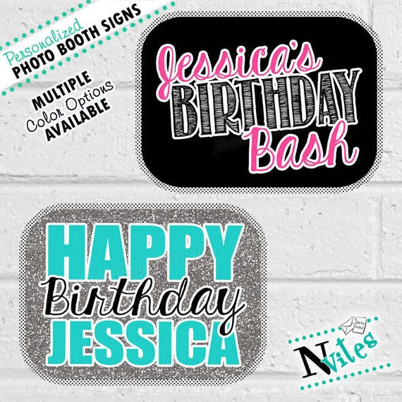 Birthday Photo Booth Props Personalized Birthday Photo Props Etsy