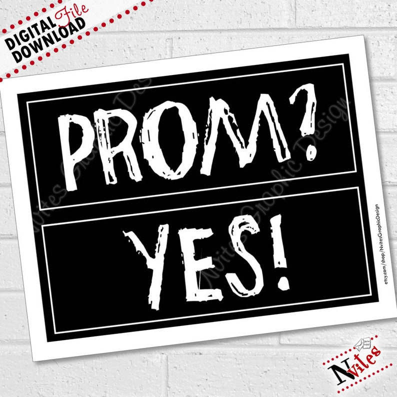 d74bf54bb2b Prom Proposal Props Prom Photo Booth Promposal Will you go