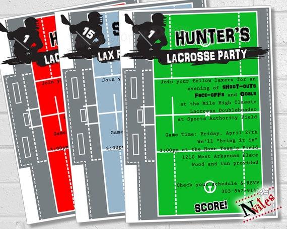lacrosse party invitation lacrosse team party lacrosse etsy