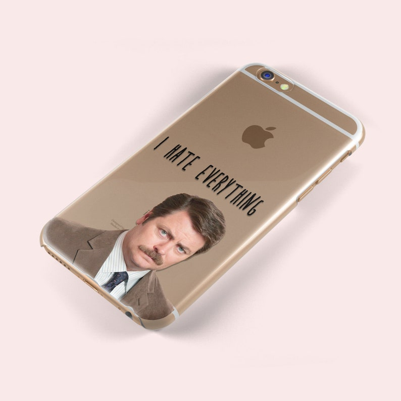 40a8a73edf6 Ron Swanson Quote iphone X 5 5S 5SE 5C 6 6S 6 Plus 7 8 Samsung Galaxy S5 S6  S7 S8 Edge TPU Soft Silicone Skin Case Nick Offerman Parks & Rec