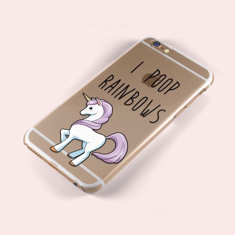 Cute Unicorn I Poop Rainbows iphone X 5 S SE 6 6S Plus 7 8 Samsung Galaxy  S5 S6 S7 S8 S9 Edge TPU Soft Silicone Skin Gel Case Pony Horse