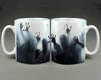 Zombie Horde Walking Dead Themed Flesh Eating Outbreak Coffee Mug Tea Cup Funny Meme Internet Humour