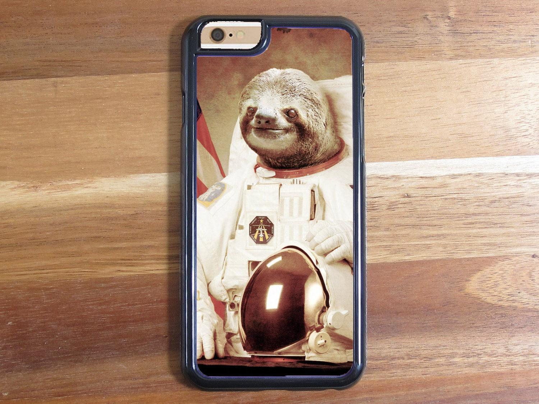 Moon Space Astronaut Gangsta Sloth iphone 5 5S 5C Iphone 6 ...
