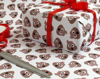 Poop Emoji Crap Wrap Pile Of Poo Gag Luxury Gift Wrap Wrapping Paper Birthday Gift Wrap Present Wrapping Paper Bff Giftwrap Funny