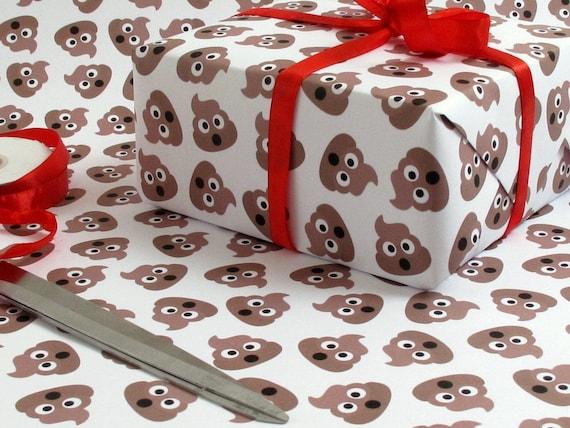 Poop Emoji Crap Wrap Pile Of Poo Gag Luxury Gift Wrap Wrapping Etsy