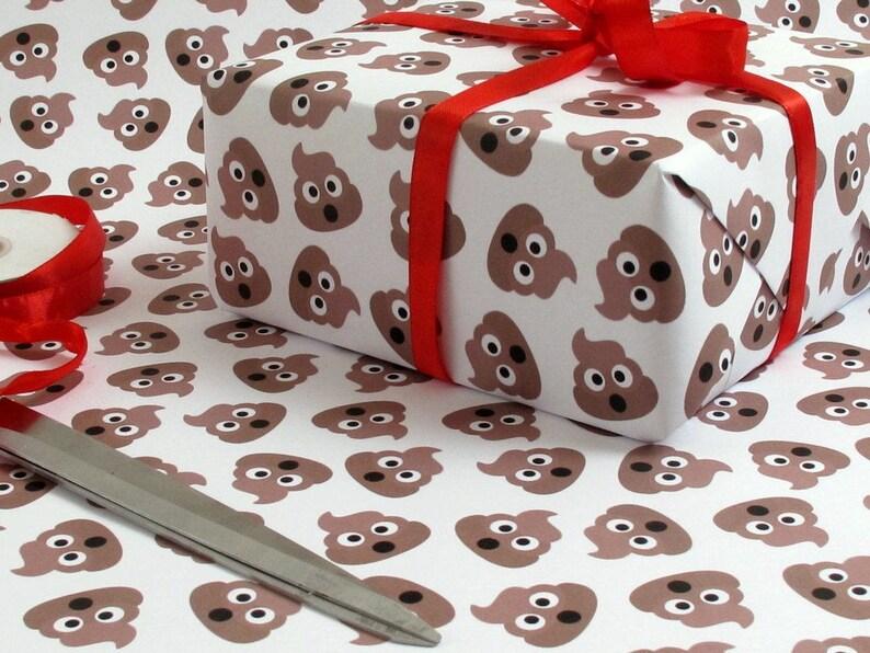 Poop Emoji Crap Wrap Pile Of Poo Gag Luxury Gift Wrapping