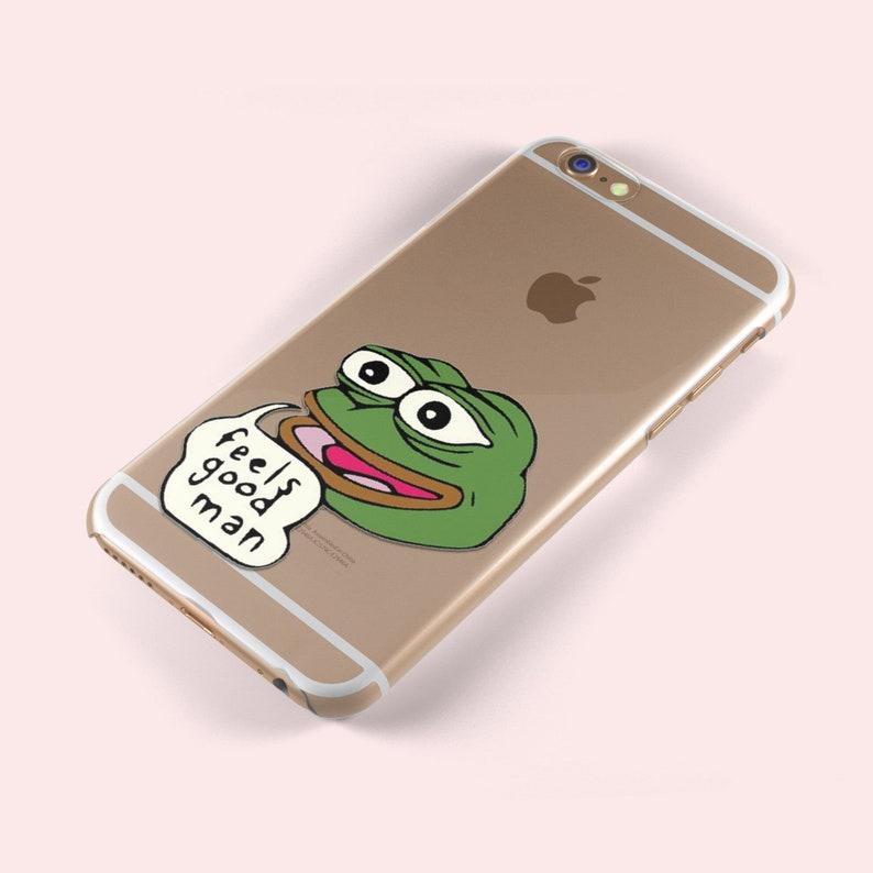 Pepe the Frog Feels Good Man Reddit Dank iphone X 5 S SE 6 6S Plus 7 8  Samsung Galaxy S5 S6 S7 S8 S9 Edge TPU Soft Silicone Skin Gel Case