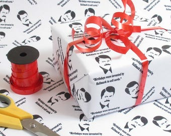 Ron Swanson Birthday Quote Gift Wrap Wrapping paper Birthday Gift Wrap Present Wrapping Paper Bff Giftwrap Funny Wrapping Paper