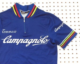 80s CAMPAGNOLO cycling jersey made in italy tommaso vintage cycling bike  racing track race shirt italian 3816ceb06