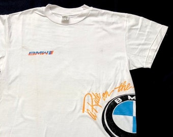 3171cf6fea9a 90s BMW vintage t shirt by style auto M take a ride on the wild side nos  like new formula one