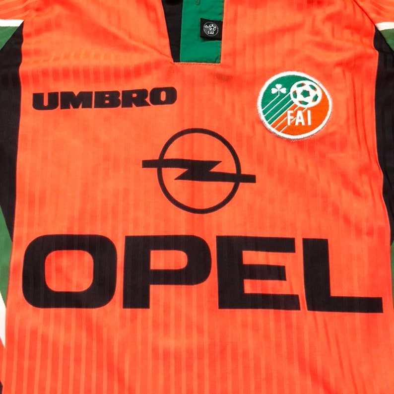 135e68366b4c 90s UMBRO OPEL FAI republic of Ireland futbol home soccer