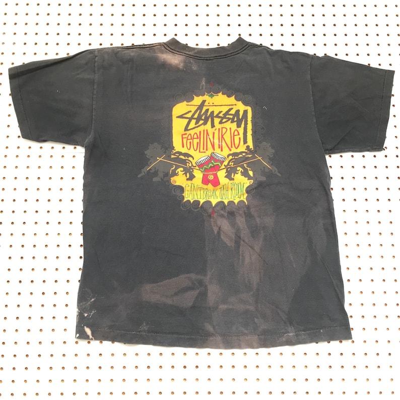 f7644dd5e7d6d 90s STUSSY t shirt large made in usa jah wear rasta feelin
