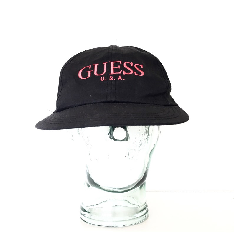 091328fa8fe39 90s GUESS hat adjustable embroidered logo guess jeans vintage