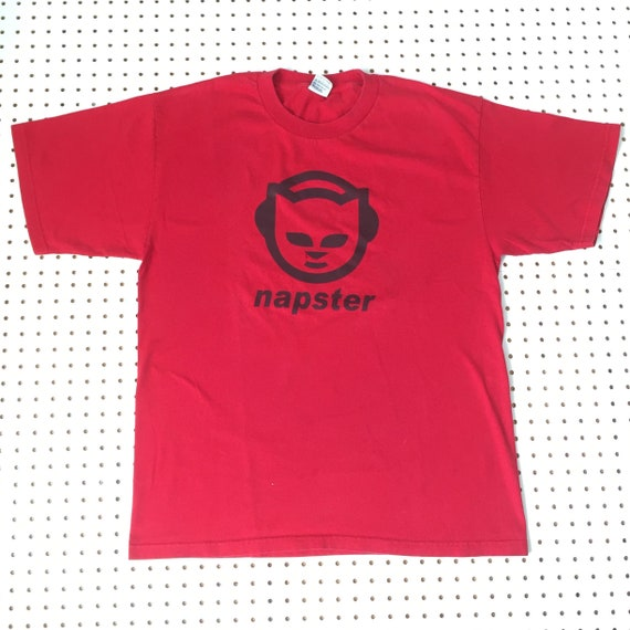 90s NAPSTER MUSIC logo t shirt xl apple macintosh
