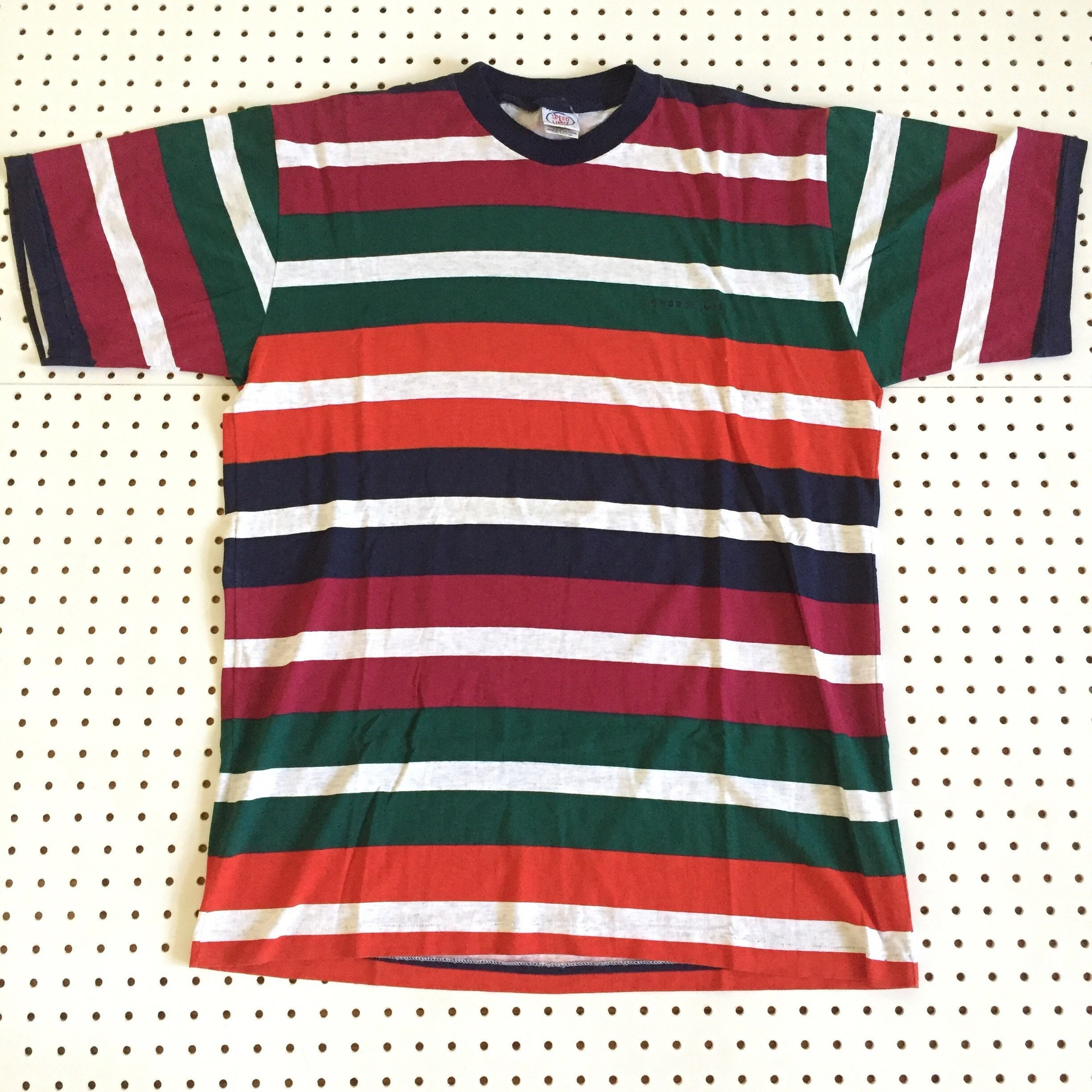 832f03e2c3 90s COLOR STRIPED t shirt by speed limit color block guess