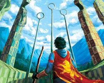 Harry Potter Quidditch Print - Gryffindor