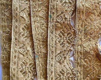 18thc Passementerie Gold metal braiding baroque French