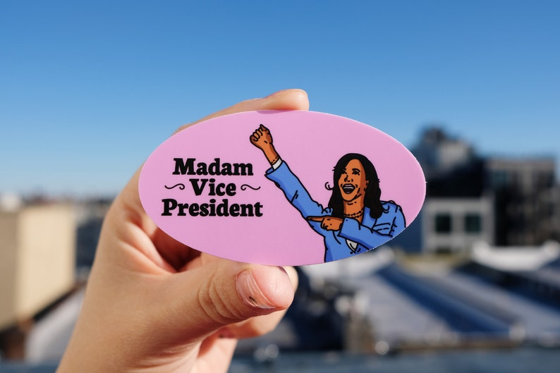 Madam VP Sticker Kamala Harris Sticker Vice President Kamala Harris Sticker Madam Vice President Harris Sticker Kamala Harris VP Sticker