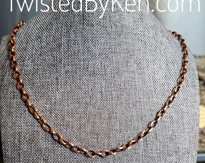 Handmade 22in Antiqued Copper Anchor Chain, Adjustable, Versatile  Useable as Necklace, Bracelet, Anklet Soldered Links TBK060521