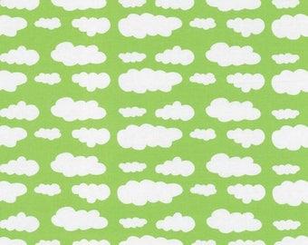 Light green cloud Jersey Fabric