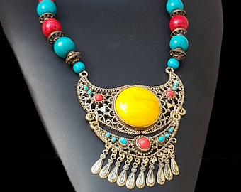 "Ethnic necklace with "" INCA""  inspiration"