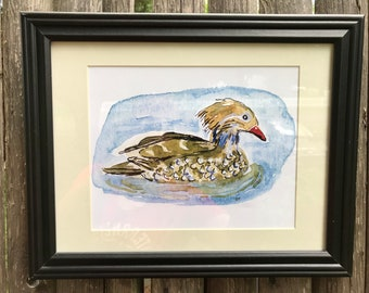 Duck Pond - Limited edition giclée print of an original watercolor painting