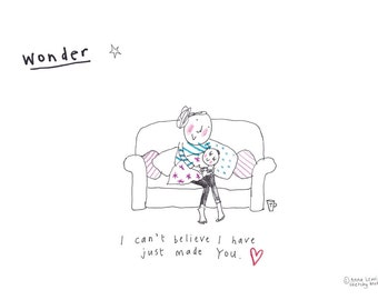 WONDER print from the 'Sketchy Muma' series by Anna Lewis