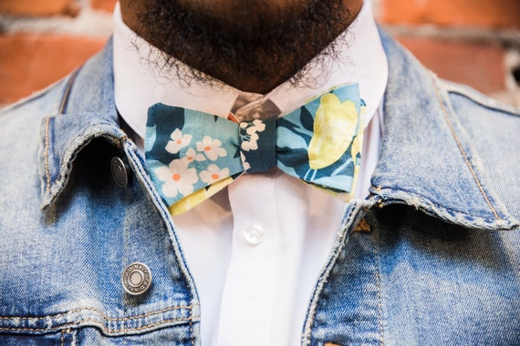 Spring Blooms Reversible Bow tie
