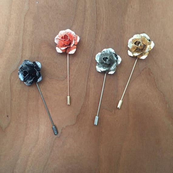 Gold Dipped Lapel Flowers