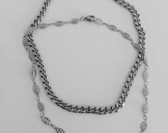Delicate Silver Chain Choker Necklace