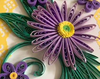 Quilling Card, Birthday Quilled Card, Handmade Birthday Card, Handmade Greeting Card, Handmade Thank You Card, Quilling Handmade Card