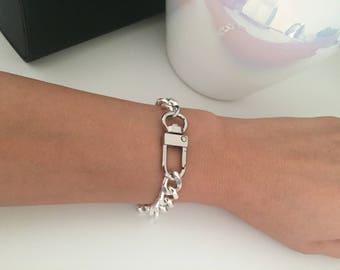 Statement Silver Chain Bracelet