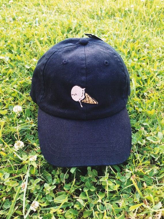 643e0d44897 Super Sweet Pink Glazed Dripping ICE CREAM with CONE Dad Hat