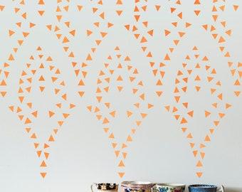 Mosaic Allover Geometric Wall Stencil