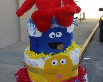Sesame Street Diaper Cake