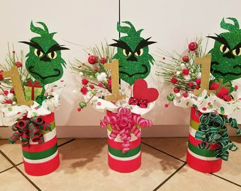 The Grinch Centerpieces