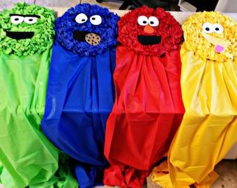 Sesame Street Back Drop/Character faces