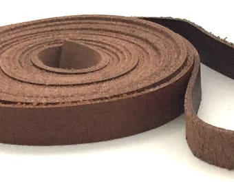 "Brown Leather Strip 60"" Five Feet   / Brown Bracelet Leather / Brown Jewelry Leather / Brown Leather Straps / 5, 7, 10 mm"