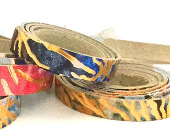 Leather Strip / Leather Cuffs / Jewelry Leather / Metallic Leather / Thin Leather / Embossed Leather / 7mm, 10mm, 13mm, 16mm