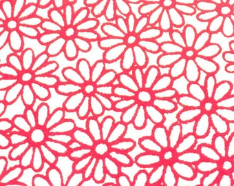 """Printed Leather / Floral Leather / Patterned Leather / Printed Leather  / Leather with Flowers / PINK Flowers / 12.5"""" x 12.5"""""""