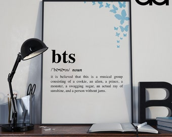 BTS (Bangtan Boys) Definition Digital Print Poster (16x20in)